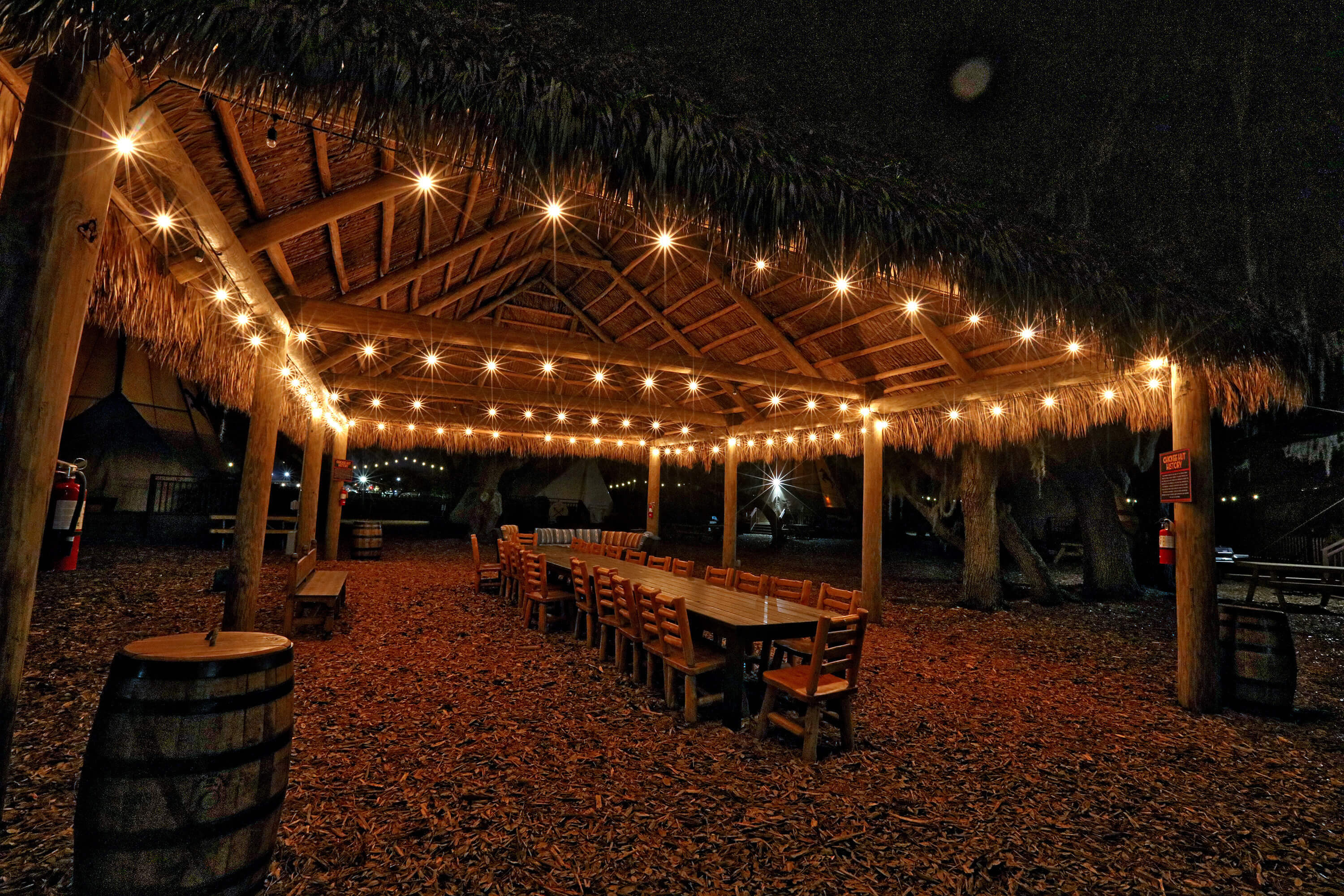 Chickee Hut with palmetto-thatch roof | Westgate River Ranch Resort & Rodeo | Westgate Resorts
