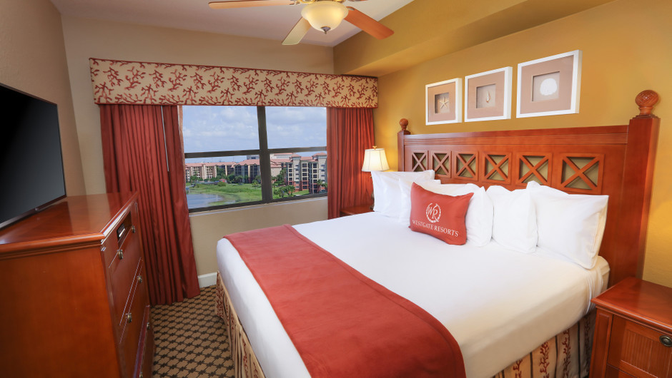Bed in Four-Bedroom Presidential Villa View in Orlando, FL | Westgate Lakes Resort & Spa | Westgate Resorts