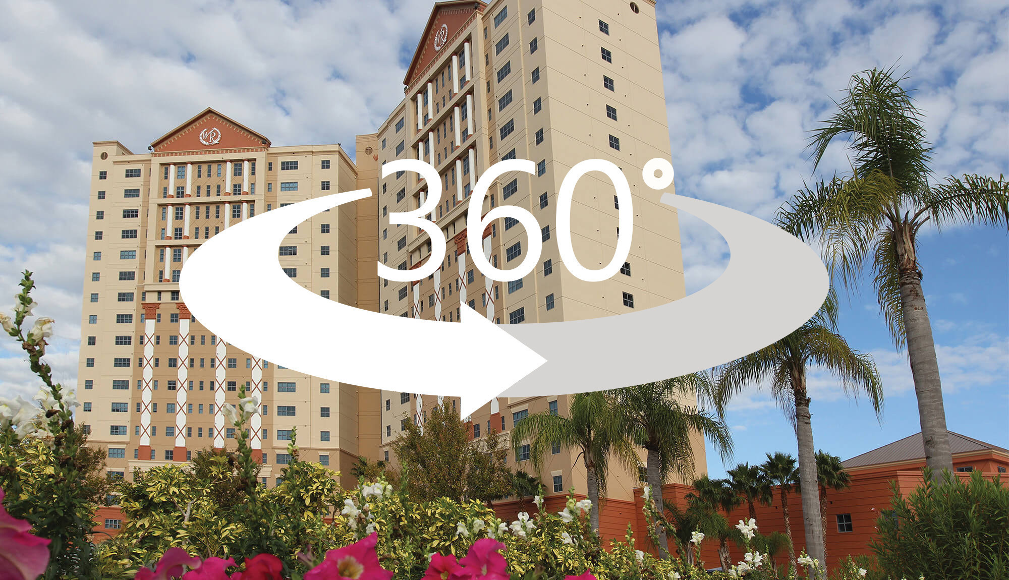 360-degree virtual tour through different room types for Orlando resorts on International Drive | Westgate Palace Resort in Orlando, FL