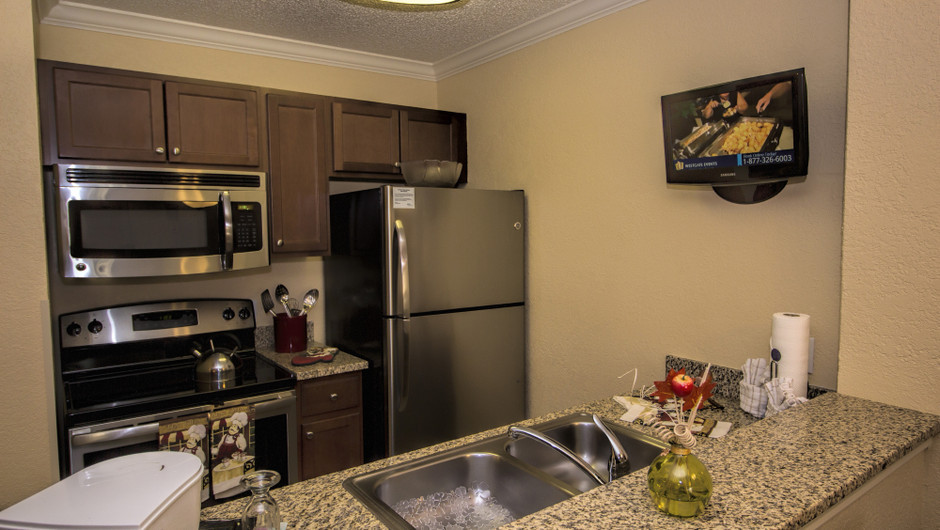 Kitchen in One Bedroom Villa at our Orlando resorts | Westgate Blue Tree Resort | Westgate Resorts Orlando