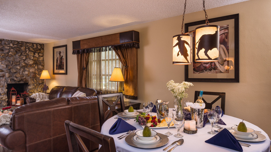 Dining Table in Lodge One-Bedroom Cottage |  Westgate River Ranch Resort & Rodeo | Westgate Resorts