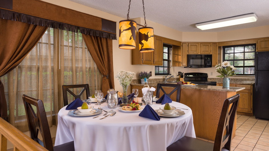 Dining Table in Lodge Two-Bedroom Cottage |  Westgate River Ranch Resort & Rodeo | Westgate Resorts