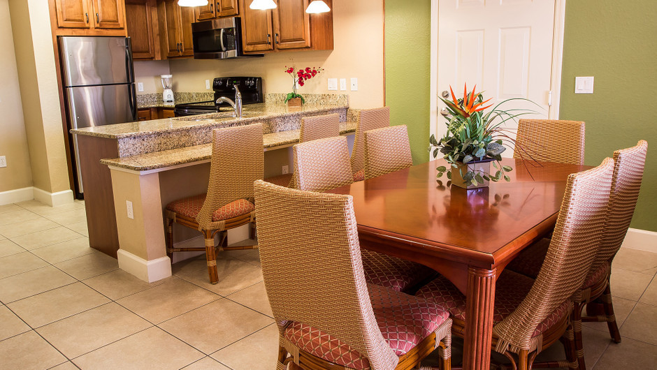 Dining Table for One-Bedroom Deluxe Villa in Orlando, FL | Westgate Lakes Resort & Spa | Westgate Resorts