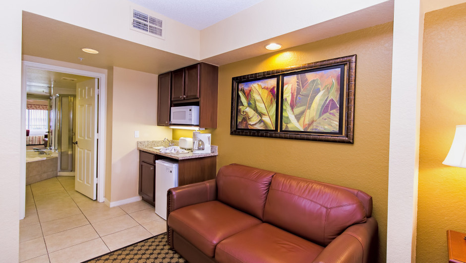 Living Area, Studio Villa in Orlando, FL | Westgate Lakes Resort & Spa | Westgate Resorts