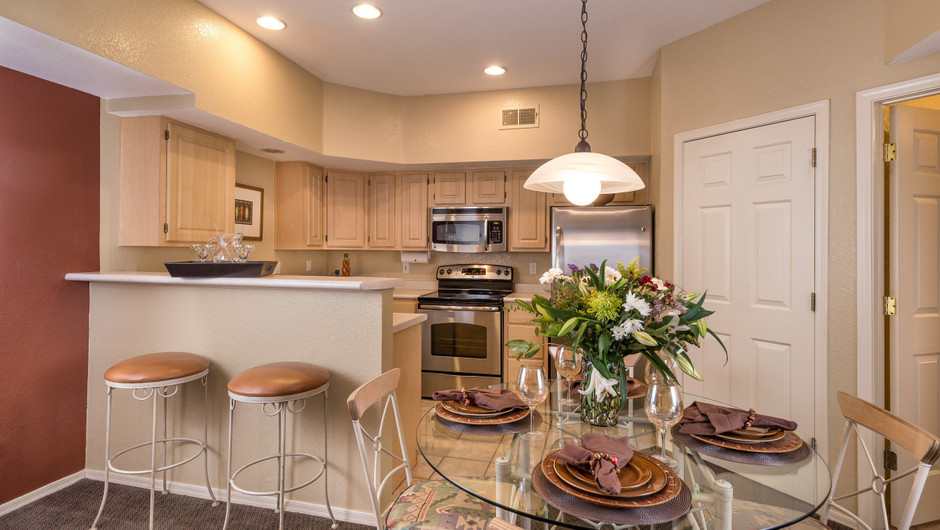 Kitchen in Two-Bedroom Villa at Painted Mountain golf resort Mesa AZ | Westgate Painted Mountain Golf Resort | Westgate Resorts