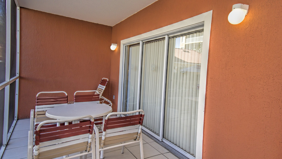 Screened Balcony |Two-Bedroom Deluxe Villa | Westgate Town Center Resort & Spa | Westgate Resorts