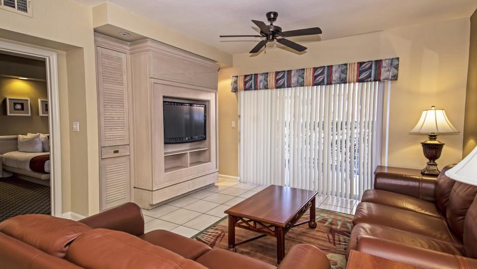 Living Area | Two-Bedroom Deluxe Villa | Westgate Town Center Resort & Spa | Westgate Resorts