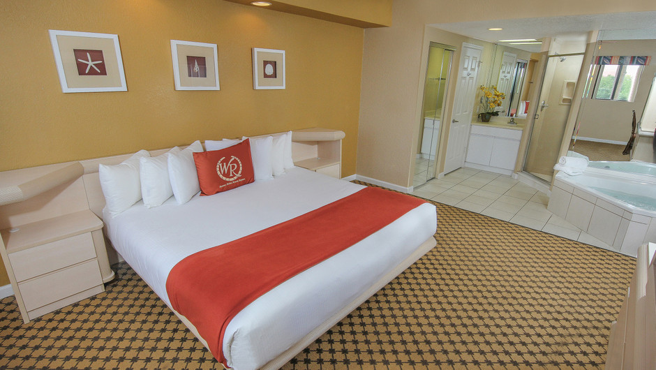 Bed in One Bedroom Villa at our hotel villas in Orlando Florida | Westgate Towers Resort | Westgate Resorts