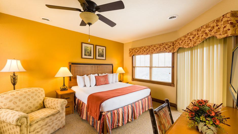 Bed in Three Bedroom Villa at our Gatlinburg Villas | Westgate Smoky Mountain Resort & Spa | Westgate Resorts