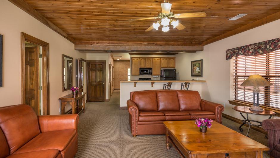 One Bedroom Deluxe Villa Living Room at our Branson Villas | Westgate Branson Woods Resort | Westgate Resorts