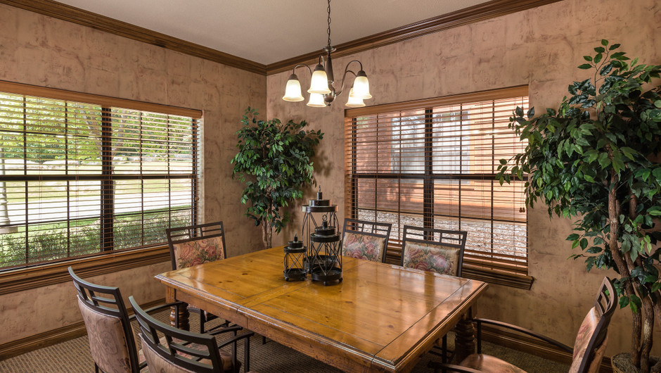 Dining Area in One-Bedroom Deluxe Villa at our Branson Villas | Westgate Branson Woods Resort | Westgate Resorts