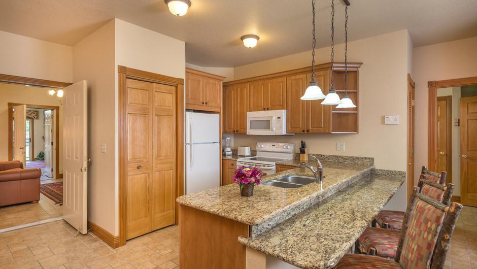Kitchen for One-Bedroom Grand Villa in our Branson Villas | Westgate Branson Woods Resort | Westgate Resorts