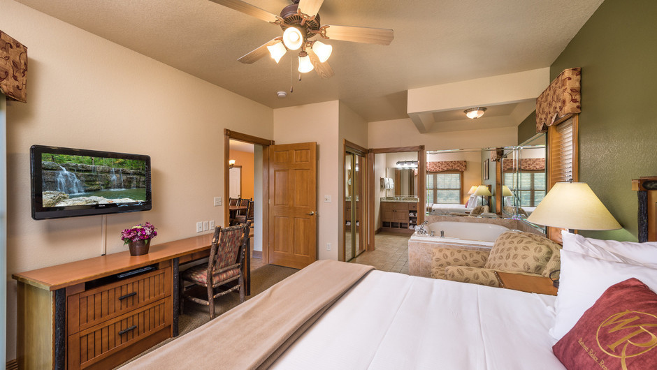 Bedroom in One Bedroom Grand Villa in our Branson Villas | Westgate Branson Woods Resort | Westgate Resorts