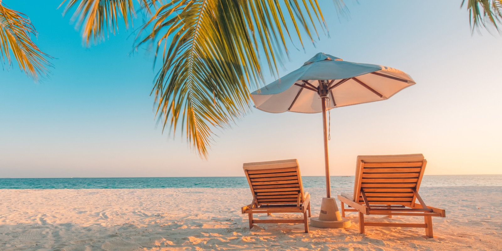 Relaxing Beach With Chairs