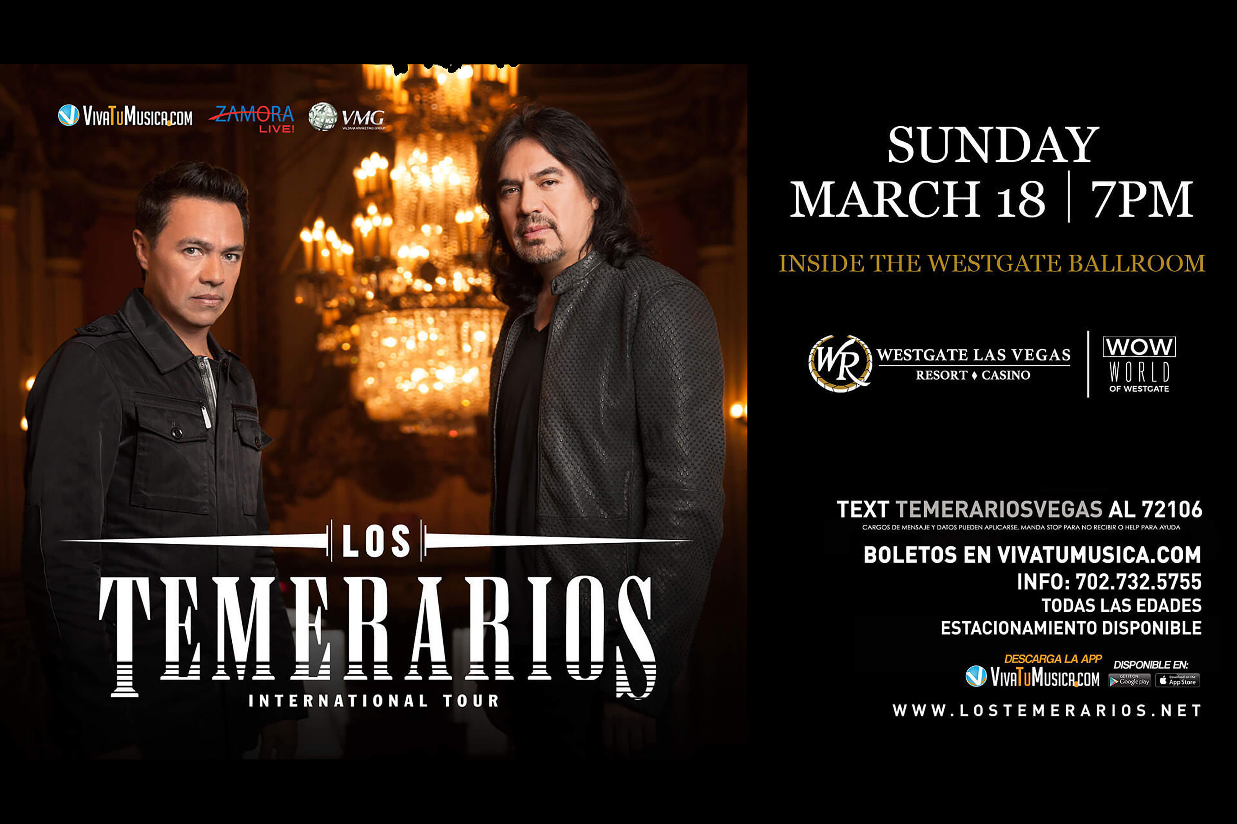 Los Temerarios and Baruch | March 18, 2018 | Westgate Las Vegas Resort & Casino
