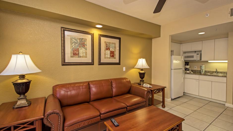 Living Area | Deluxe Studio Villa | Westgate Town Center Resort & Spa | Westgate Resorts