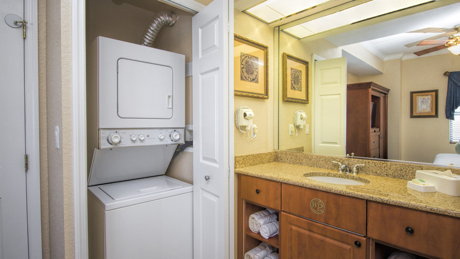 Laundry Closet | Two-Bedroom Villa | Westgate Palace Resort | Orlando, FL | Westgate Resorts