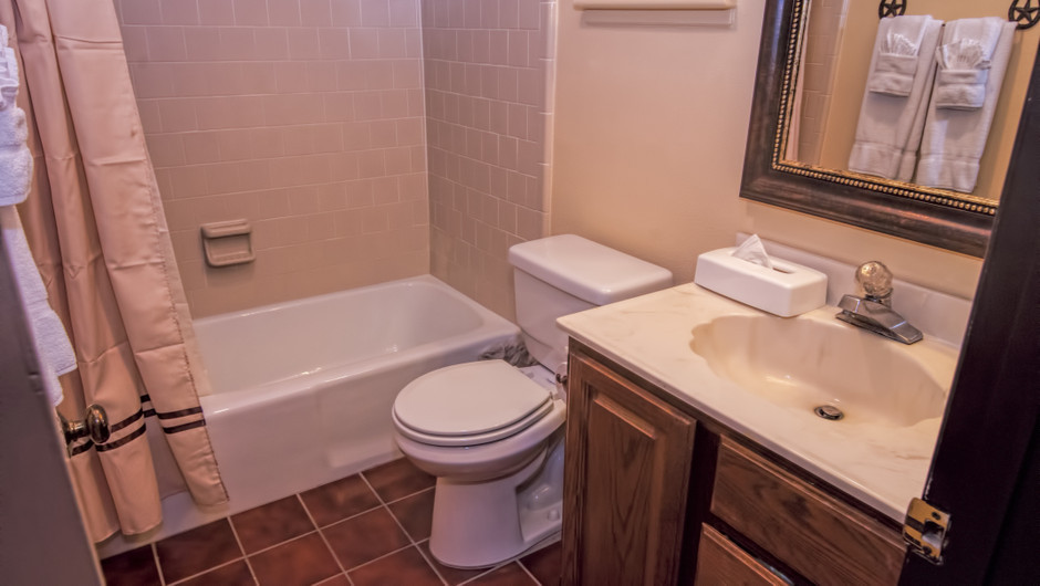 Bathroom in Lodge Suite |  Westgate River Ranch Resort & Rodeo | Westgate Resorts