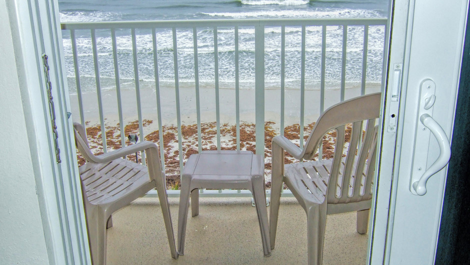 Balcony at our Daytona Beach resorts | Harbour Beach Resort | Westgate Resorts