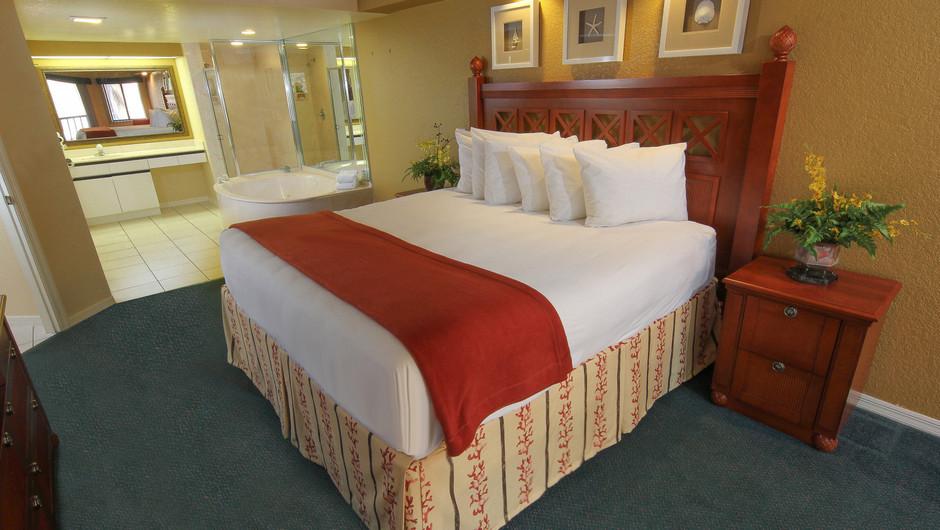 Two-Bedroom Deluxe Villa Bedroom with King Bed | Westgate Vacation Villas Resort & Spa | Orlando, FL | Westgate Resorts