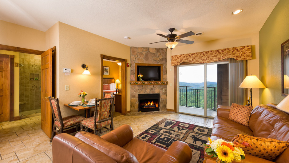 Living Area in Five-Bedroom Villa at our Gatlinburg Villas | Westgate Smoky Mountain Resort & Spa | Westgate Resorts