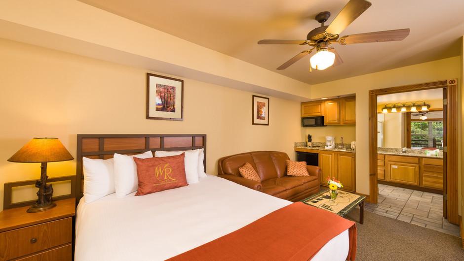 Bed in Two-Bedroom Villa in our Gatlinburg Villas | Westgate Smoky Mountain Resort & Spa | Westgate Resorts