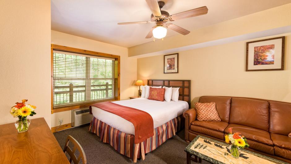 Bed in Studio Villa in our Gatlinburg Villas | Westgate Smoky Mountain Resort & Spa | Westgate Resorts