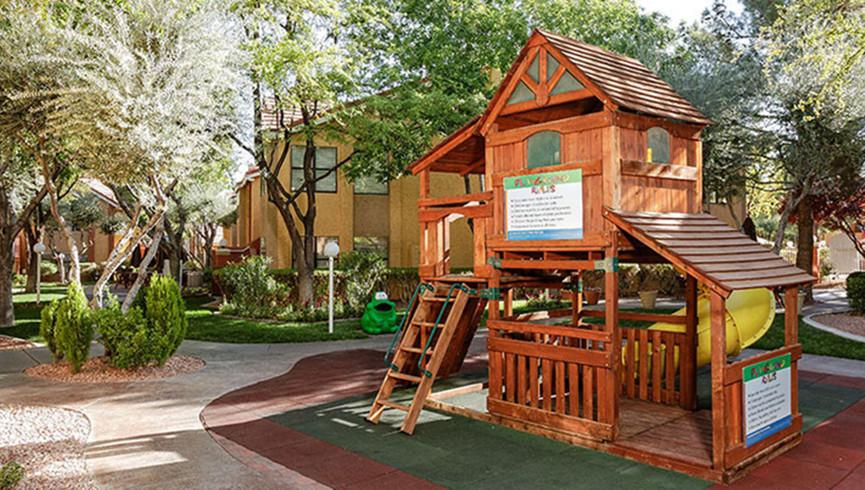 Playground at our Flamingo Las Vegas hotel | Westgate Flamingo Bay Resort | Westgate Resorts in Las Vegas NV