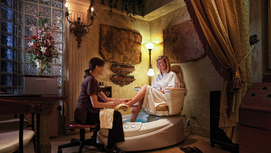Woman getting pedicure | Westgate Lakes Resort & Spa | Orlando, FL | Westgate Resorts