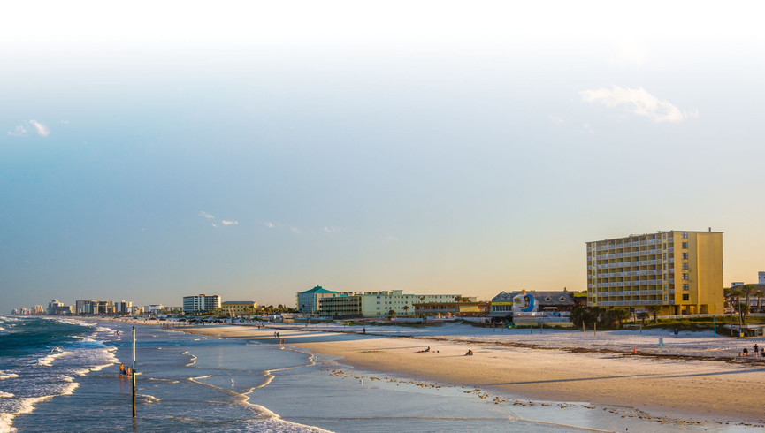 Beach view from one of our Daytona Beach resorts   Harbour Beach Resort   Westgate Resorts