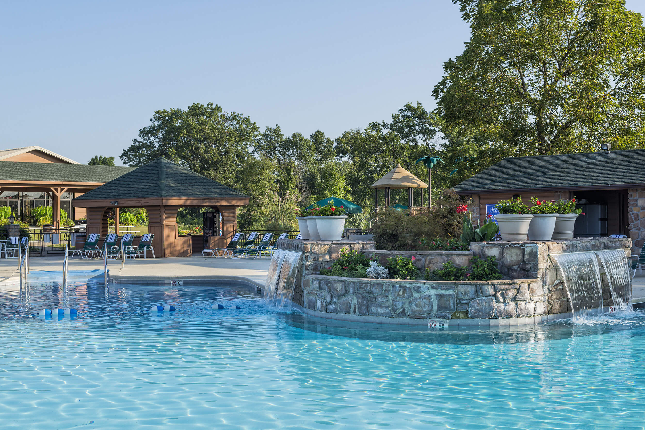 Rock waterfall at Outdoor Pool | Westgate Branson Woods Resort | Westgate Resorts, Branson MO