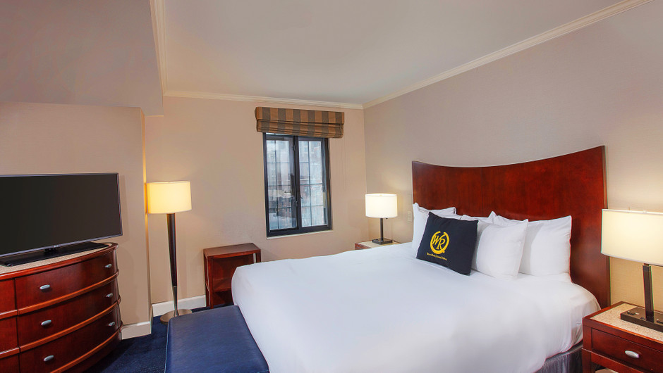 Interior of Signature King Balcony Hotel Room in Midtown Manhattan NYC | Westgate New York City | New York Hotel Rooms