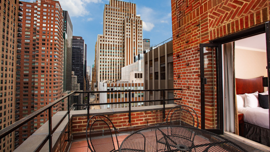 View from Signature One Bedroom King Balcony Suite at Midtown Manhattan Hotel | Westgate New York City | Midtown East Suites