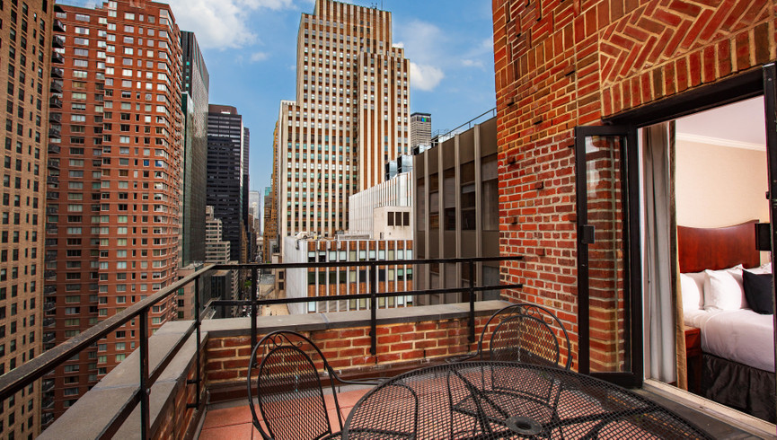 New York City Hotel Balcony Suite Photos | Westgate New York City | Midtown Manhattan Images