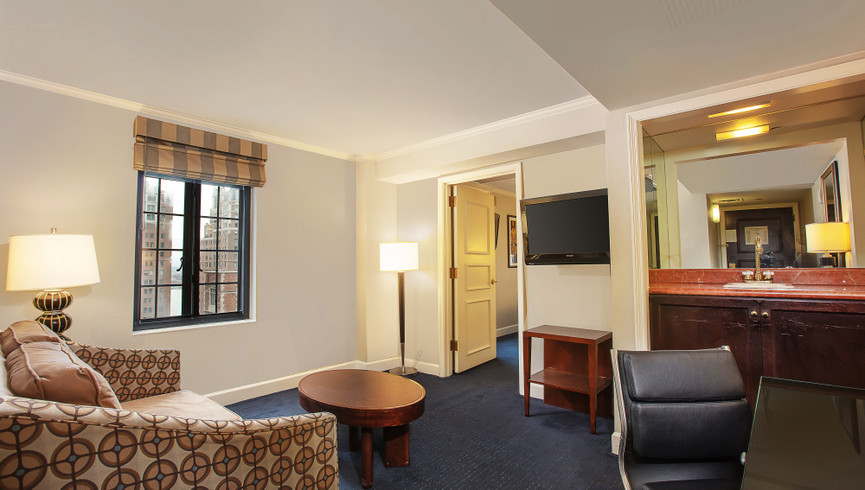 New York City Hotel Living Room Photos | Westgate New York City | Midtown Manhattan Images