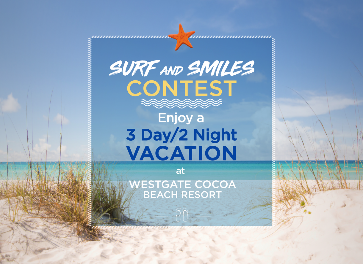 Westgate Resorts Contest For Chance To Win Cocoa Beach Vacation At Florida Luxury Resort