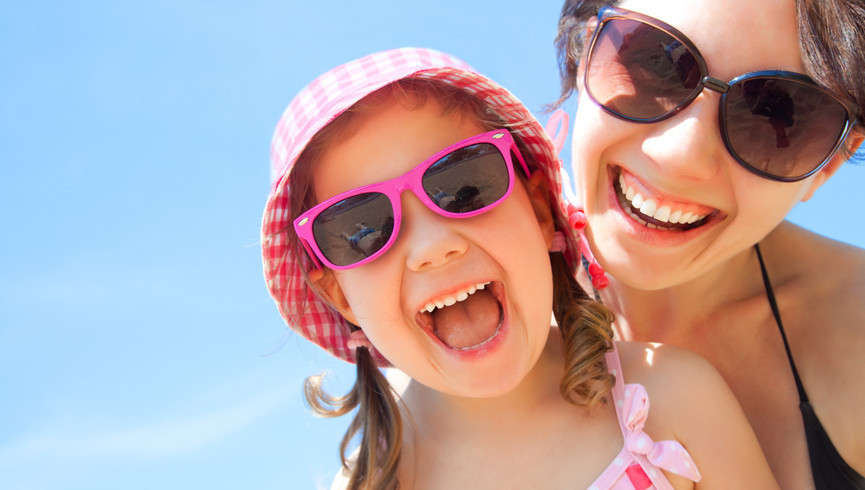 Happy Girl at Westgate Blue Tree Resort in Lake Buena Vista Florida | Resorts Near Sea World, FL 32836 | Lake Buena Vista Hotels
