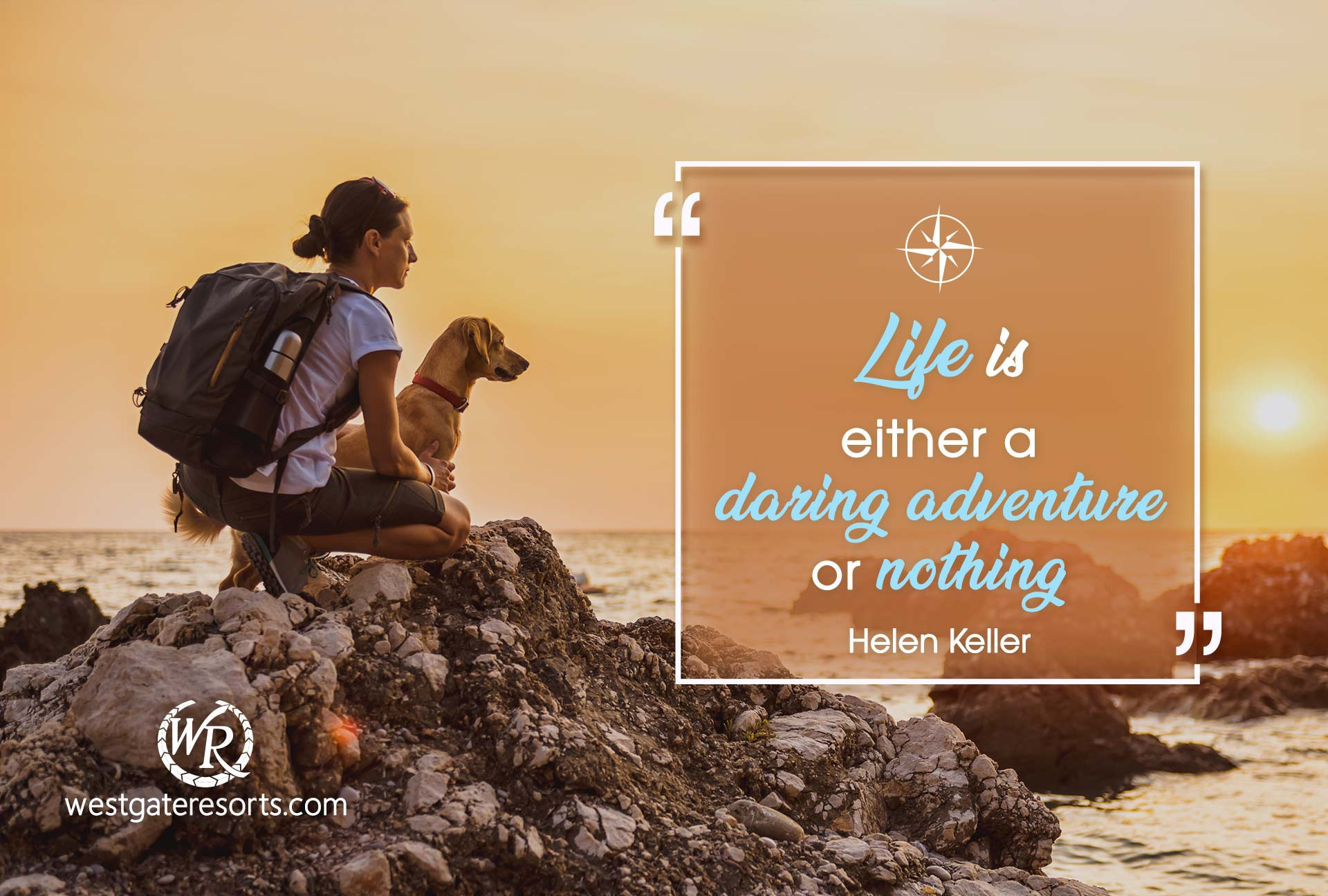 Life is Either a Daring Adventure or Nothing | Helen Keller | Travel Motivational Quotes