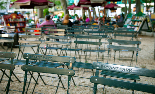 Bryant Park Chairs close to our Hotel Near Grand Central Station | Westgate New York Grand Central