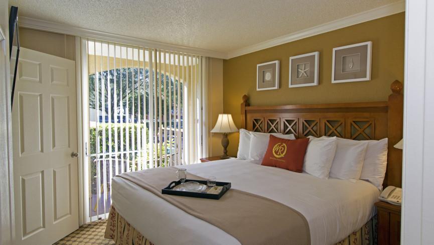 Bed at our Lake Buena Vista Florida Resorts | Westgate Blue Tree Resort Lake Buena Vista | Resorts Near Sea World, Orlando, FL 32836
