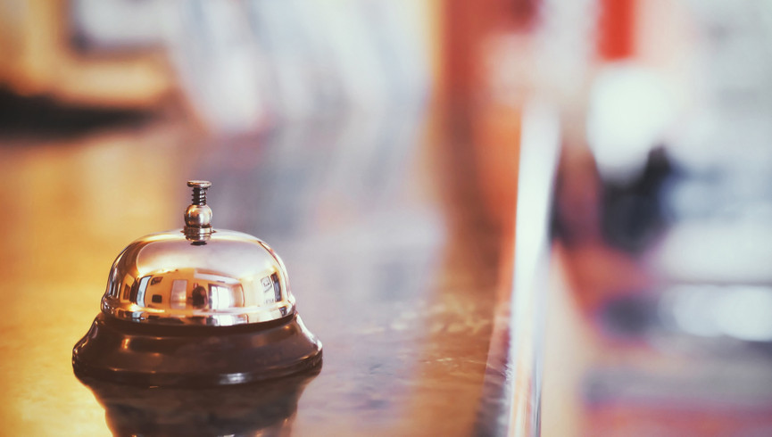 Front desk bell at our Hotel Near Grand Central Station | Westgate New York Grand Central