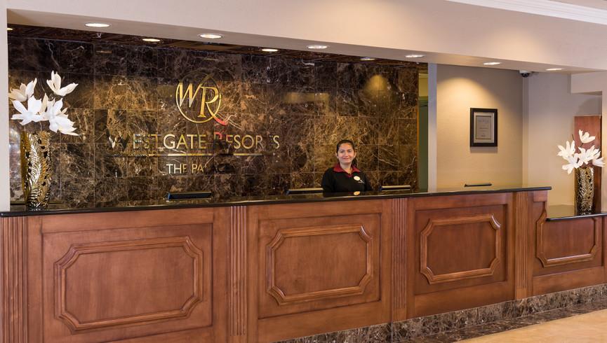 Front Desk Pictures of Orlando Florida Resorts | Westgate Palace Orlando | Hotels Near International Drive, Orlando, FL 32819