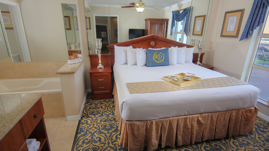 Master Bedroom | Two-Bedroom Deluxe Villa | Westgate Palace Resort | Orlando, FL | Westgate Resorts