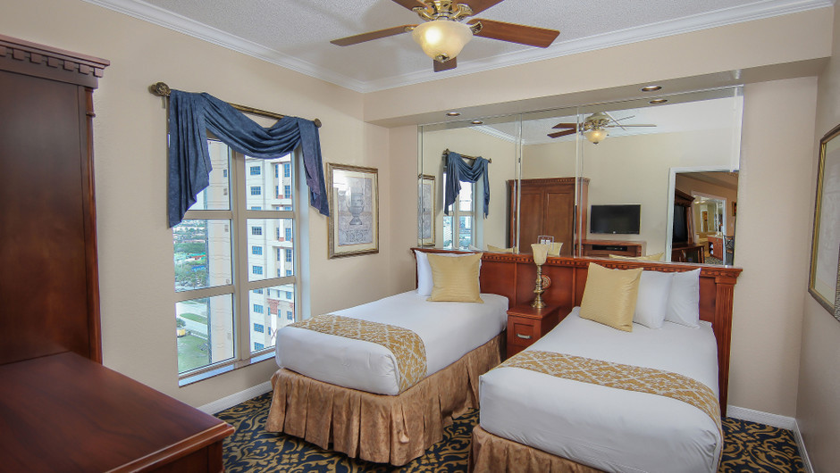 Second Bedroom | Two-Bedroom Deluxe Villa | Westgate Palace Resort | Orlando, FL | Westgate Resorts