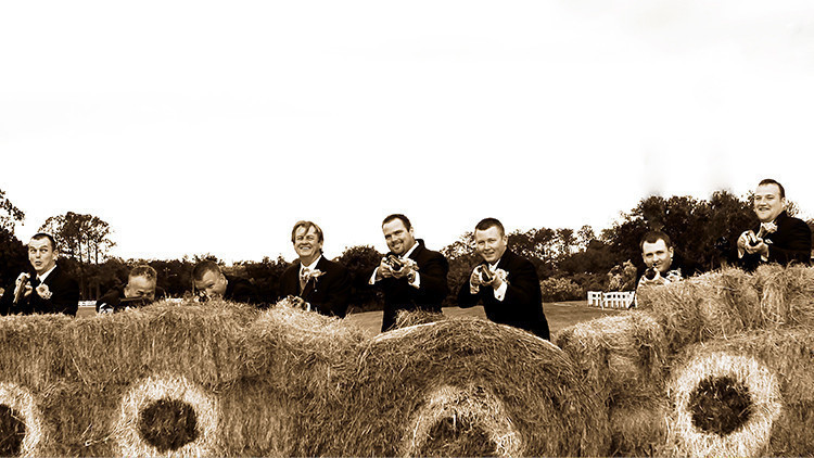 Country Activities At Wedding Reception & Groomsmen Posing With Shotguns | Bride Guide: 6 Vintage Country Wedding Theme Ideas Right From the Ranch! | Westgate River Ranch