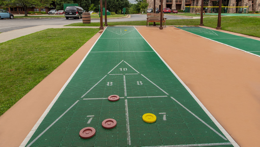 Shuffleboard at our Branson Resorts | Westgate Branson Woods Resort | Westgate Resorts