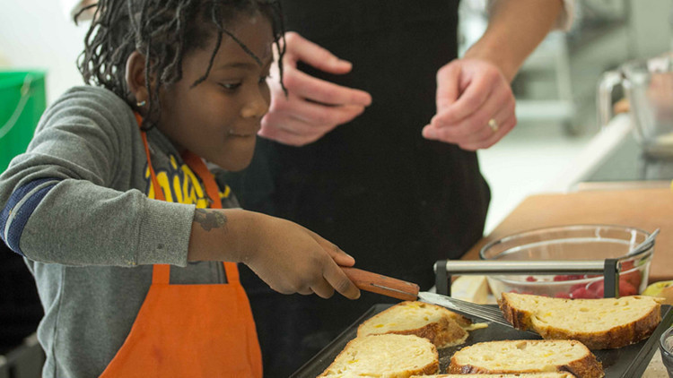 Child Cooking at Taste Buds Kitchen NYC| The 10 Best Winter Activities for Toddlers NYC Has to Offer | Winter Activities in New York City