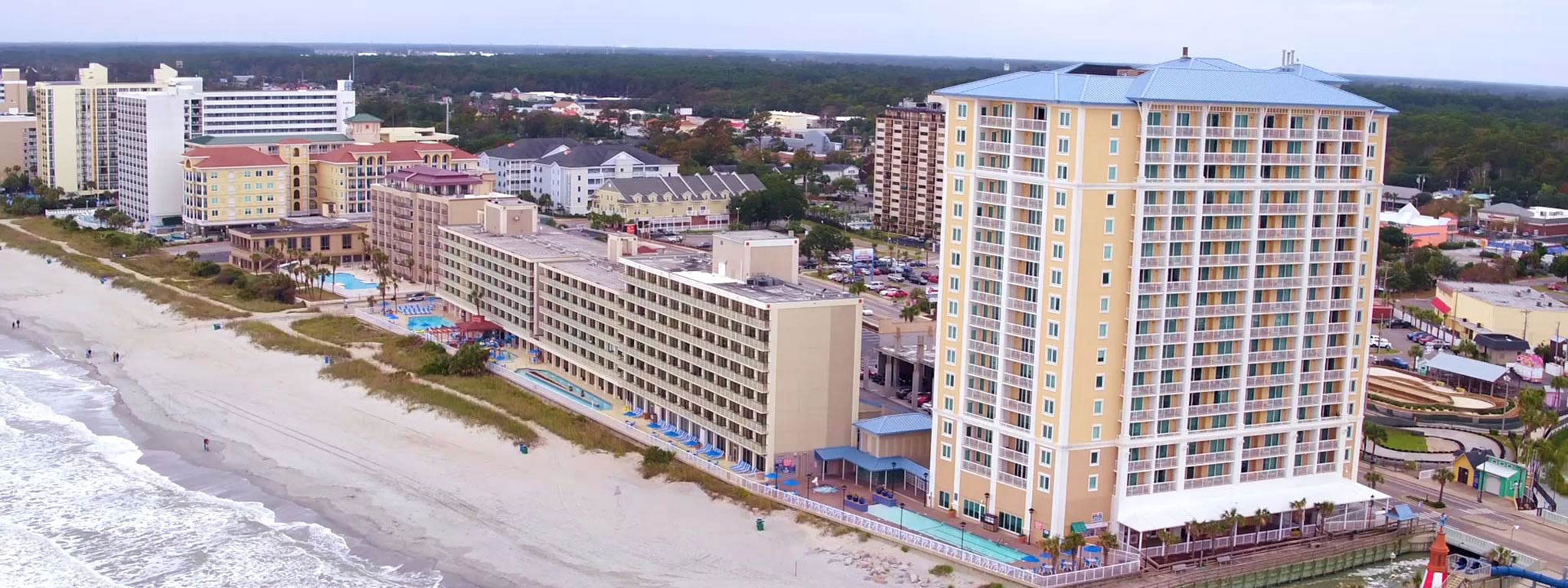 Westgate Myrtle Beach Oceanfront Resort provides spacious accommodations, fun, family-friendly recreational activities, and convenient access to famous attractions in Myrtle Beach, South Carolina - as well as beach-going adventure and aquatic fun!