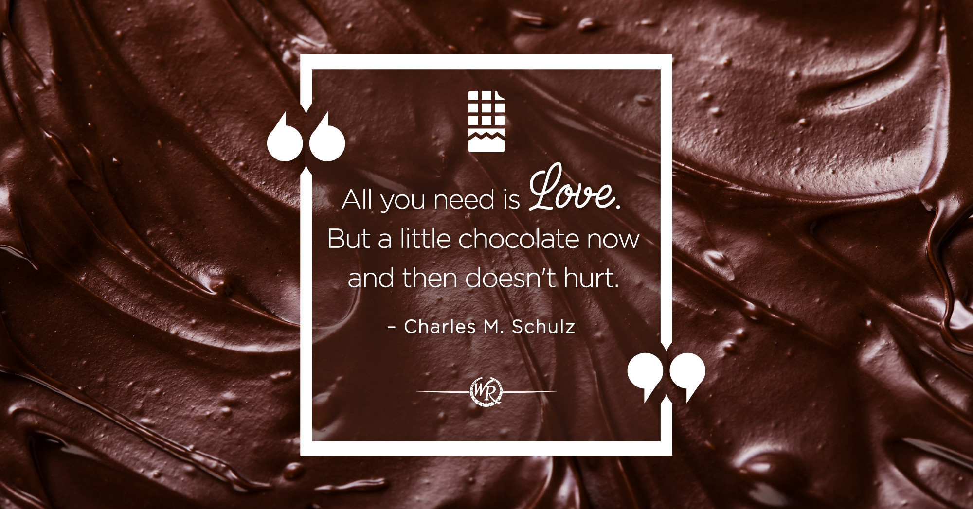 All You Need Is Love. But a Little Chocolate Now And Then Doesn't Hurt. - Charles M. Schulz | Motivational Quotes
