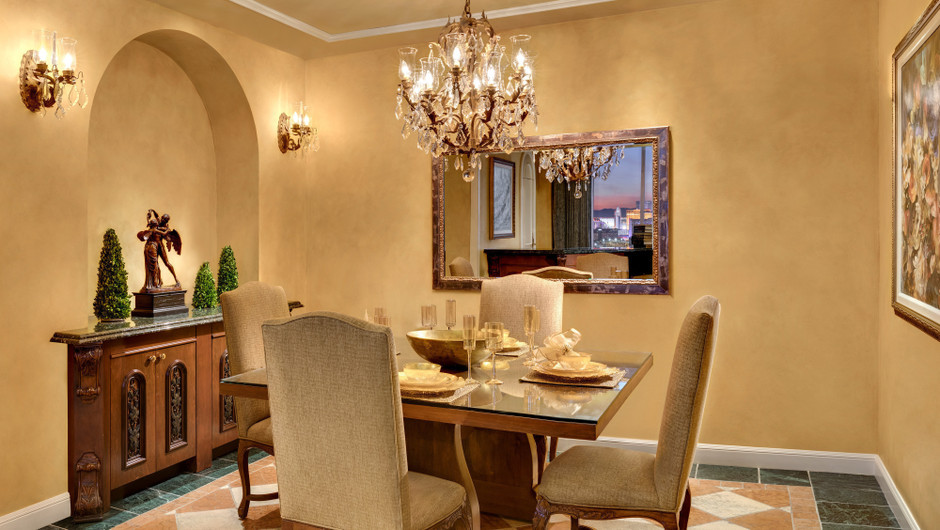 Intimate dining experiences are possible in the Napa Suites at Westgate Las Vegas Resort & Casino.
